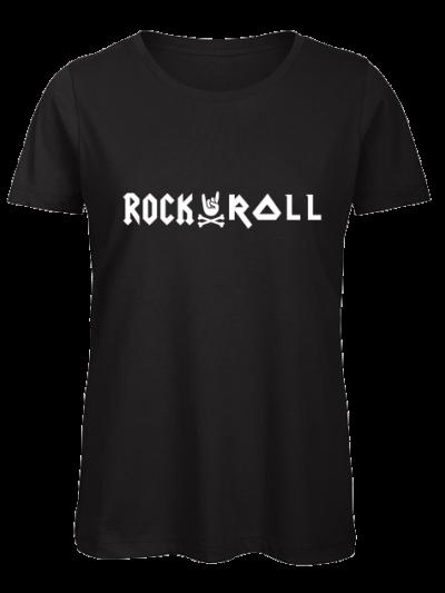 zwarte ronde hals vrouwen rocknroll